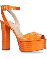 c3b4f60392d Lyst - Giuseppe Zanotti Betty Platform Sandals 121 in Metallic