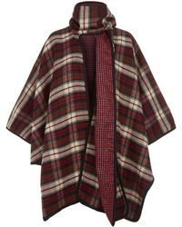 Claudie Pierlot - Check Poncho Scarf - Lyst