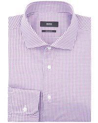 BOSS - Textured Regular Fit Shirt - Lyst
