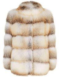 Lilly E Violetta - Olga Fox Fur Jacket - Lyst