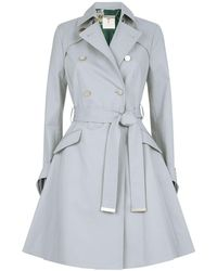 09274dffa Ted Baker - Marrian Knotted Cuffs Trench Coat - Lyst