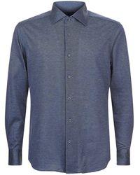 Corneliani - Cotton Oxford Shirt - Lyst