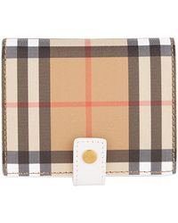 Burberry - Lakeside House Check Wallet - Lyst