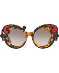 ba02bf0eff Prada - Havana Minimal Baroque Sunglasses - Lyst