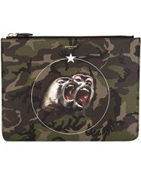 Givenchy - Monkey Brothers Canvas Pouch - Lyst