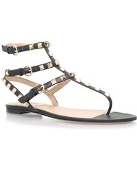 Valentino - Rockstud Leather Gladiator Sandal - Lyst