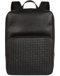 Bottega Veneta | Medium Intrecciato Backpack, Navy, One Size | Lyst