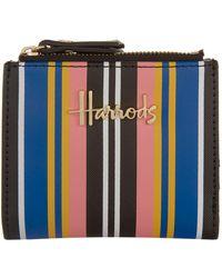 Harrods | Small Niki Striped Wallet, White | Lyst
