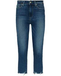 PAIGE - Hoxton Slim Crop Jeans - Lyst