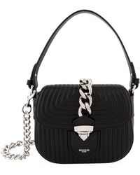 Moschino - Quilted Leather Shoulder Bag - Lyst