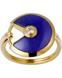 Cartier - Small Yellow Gold And Lapis Lazuli Amulette De Ring - Lyst