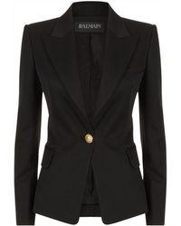 Balmain - Single Button Wool Blazer - Lyst