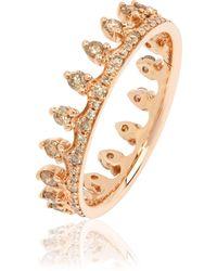 Annoushka - Brown Diamond Rose Gold Crown Ring - Lyst