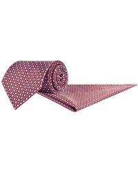 Stefano Ricci - Silk Geometric Printed Tie And Pocket Square Set - Lyst
