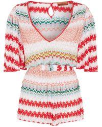 b270ed5e1d Missoni - Patchwork Knit Playsuit - Lyst