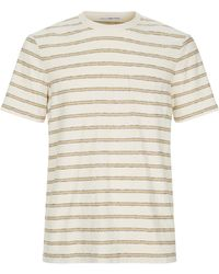 James Perse - Striped Chest Pocket T-shirt - Lyst