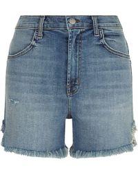 J Brand | Joan Frayed High-rise Shorts | Lyst