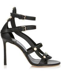 Jimmy Choo - Motoko Leather Heeled Sandals 100 - Lyst
