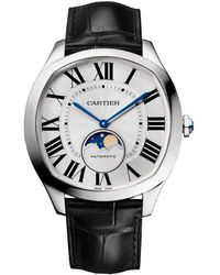 Cartier - Stainless Steel Drive De Moon Phase Watch 40mm - Lyst