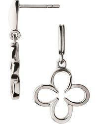 Links of London - Sterling Silver Ascot Lucky Clover Earrings - Lyst
