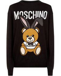 Moschino - Playboy Teddy Jumper - Lyst