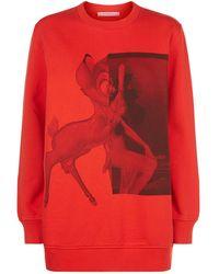 Givenchy - Oversized Bambi Print Cotton Sweatshirt - Lyst