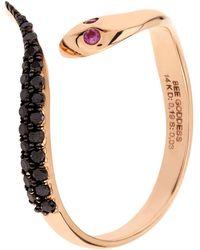 Bee Goddess - Serpent Black Diamond Ring - Lyst