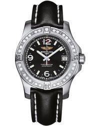 Breitling - Stainless Steel Diamond Bezel Colt Watch 36mm - Lyst