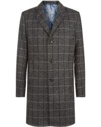Ted Baker - Ando Check Printed Coat - Lyst