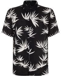 AllSaints - Bhutan Palm Print Shirt - Lyst