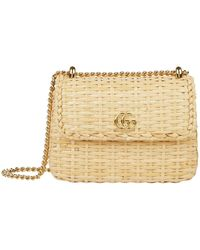 Gucci - Mini Wicker Shoulder Bag - Lyst
