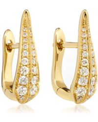 Annoushka - Diamond Hoop Earrings - Lyst