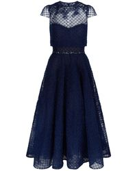 Notte by Marchesa - Flared Net Overlay Dress - Lyst