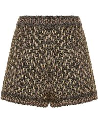 M Missoni - Metallic Boucl Tweed Shorts - Lyst