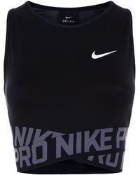 Nike - Pro Cropped Training Tanktop - Lyst
