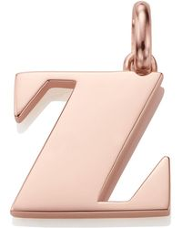 Monica Vinader - Rose Gold Capital Z Pendant - Lyst