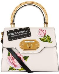 Dolce & Gabbana - Rose Embroidered Welcome Handbag - Lyst