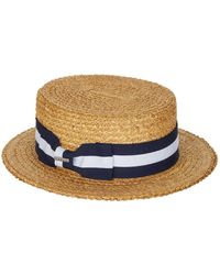 a5e3a9ed Elkader Fedora. $140. Harrods · Stetson - Striped Ribbon Panama Hat - Lyst