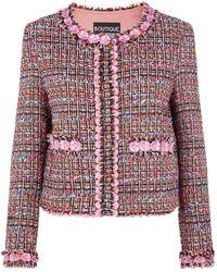 Boutique Moschino - Tweed Jacket - Lyst