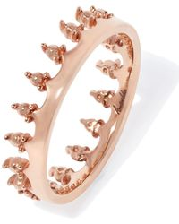 Annoushka - Rose Gold Crown Ring - Lyst
