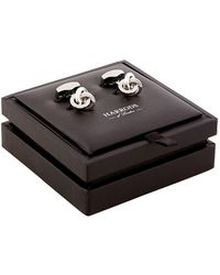 Harrods - Classic Knot Sterling Silver Cufflinks - Lyst