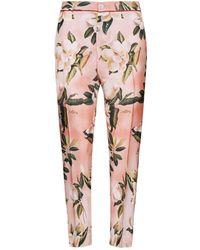 F.R.S For Restless Sleepers - Floral Silk Trousers - Lyst