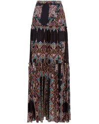 Etro - Paisley Tiered Skirt - Lyst