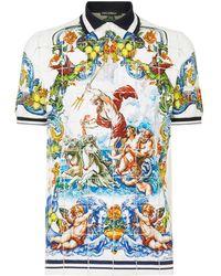 Dolce & Gabbana - Majolica Polo Shirt - Lyst