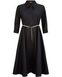 Max Mara - Cotton Belted Poplin Dress - Lyst