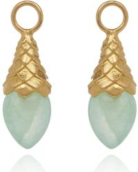 Annoushka - Yellow Gold And Jade Earring Drops - Lyst