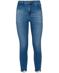 J Brand - Alana Crop Skinny Jeans - Lyst