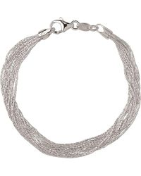 Links of London - Sterling Silver Essentials Silk 10 Row Bracelet - Lyst
