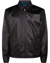 1867bb7e8 Men s Polo Ralph Lauren Leather jackets On Sale - Lyst