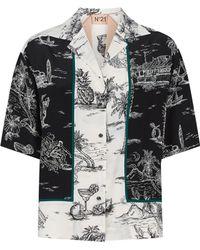 N°21 - Silk Bowling Shirt - Lyst